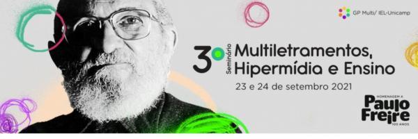 3º Seminário de Multiletramentos, Hipermídia e Ensino - Cartaz
